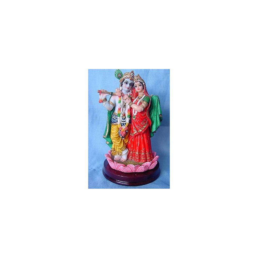 Radha Krishna na Lotusu