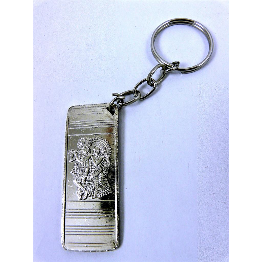 Obesek za ključe Radha-Krišna Srebrne barve